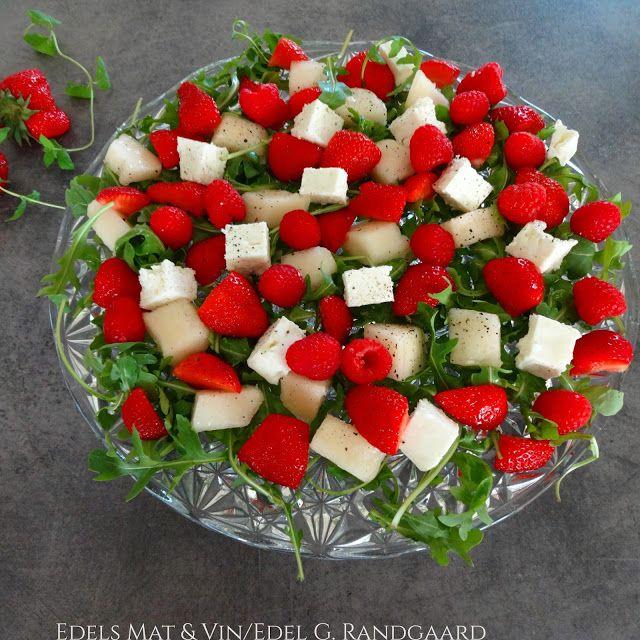 Edels Mat & Vin: Jordbær- og melonsalat med honning og limedressing...