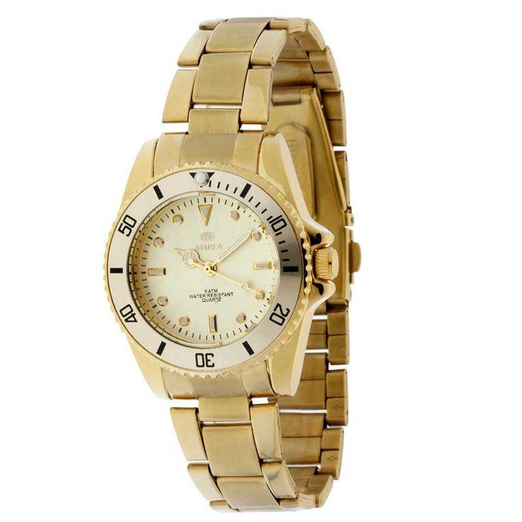 Marea B21132-9 gouden horloge | prachtig horloge | http://www.kish.nl/Marea-B21132-9-horloge/ | €64.95