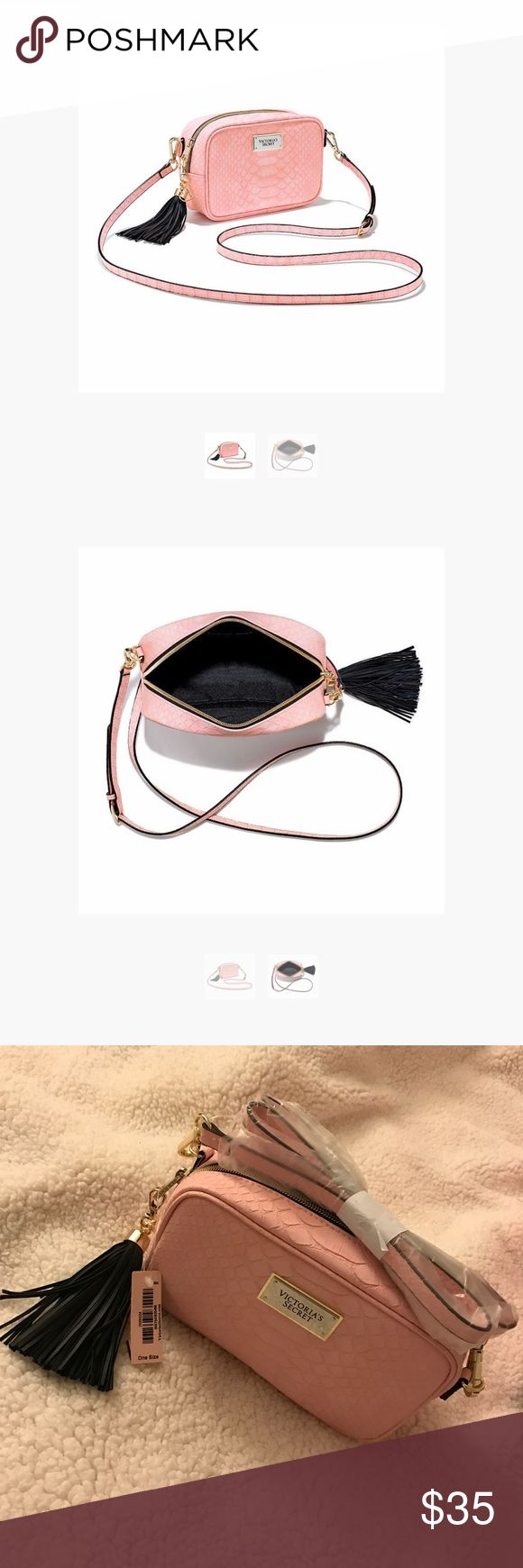 🌸VS light pink python print crossbody ▪️Brand New with Tag  ♥️NO TRADE - Please use offer feature to make offers. Thanks Victoria's Secret Bags Crossbody Bags
