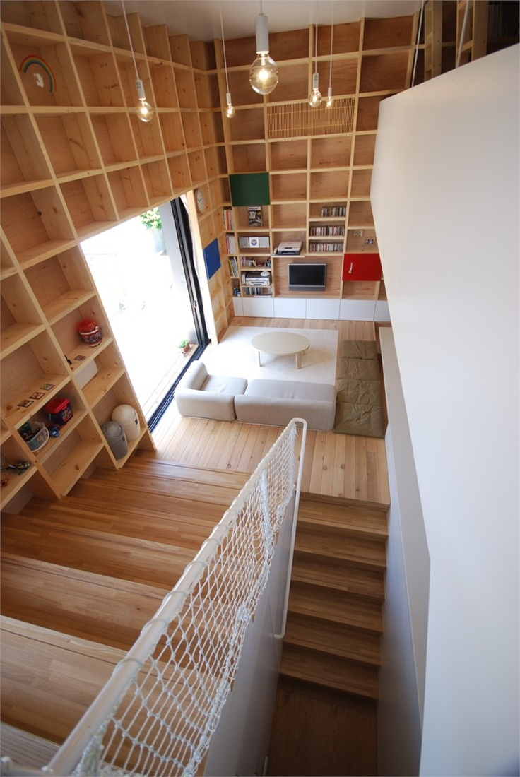 Dr.S House, Sendai, 2008 by Soy source Architects  #architecture #design #interiors #wood #boxes