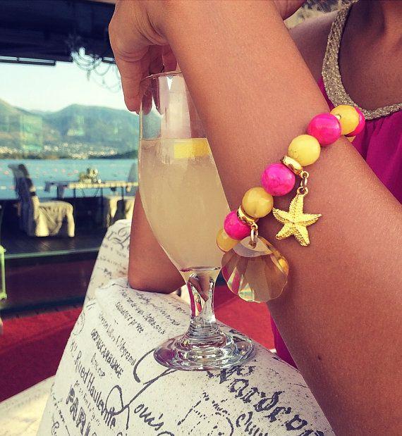 Beaded bracelet Gemstone bracelet  Agate  от Monamibijoux на Etsy