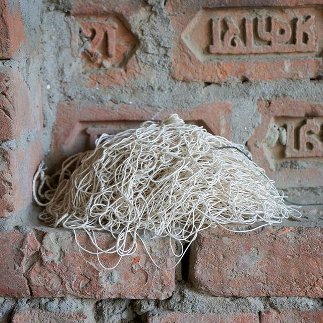 Tangled up. Silk yarn for the ICON rug.