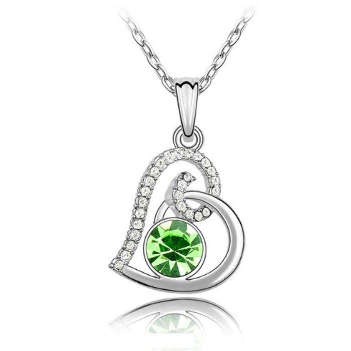 Temukan dan dapatkan Kalung Swarovski Crystal Elements Olive Green Hearts hanya Rp 205.000 di Shopee sekarang…