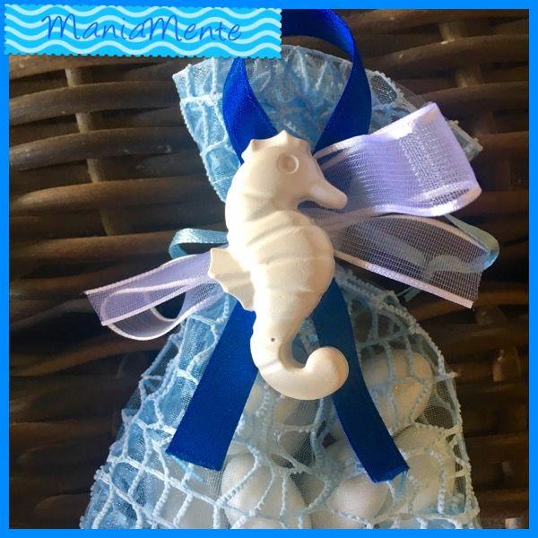 Confettata tema mare cavalluccio marino. ManiaMente handmade