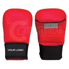 Custom Karate Mitts Supplier Norwich United Kingdom Karate Mitts made from Synthetic Leather Pu/ with machine molded foam padding.