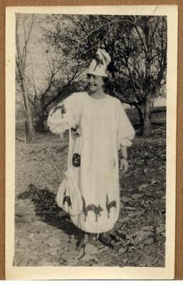 c1920s Woman in Halloween Witch Costume Photo | #137630182