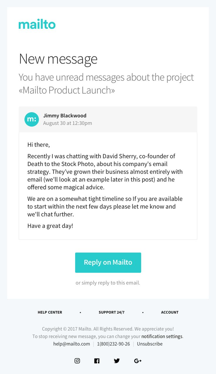Best Mailto  Email Templates Images On   Email