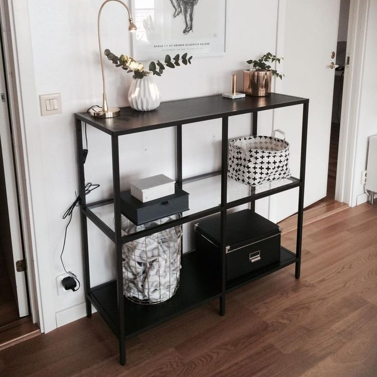 IKEA's Vittsjö shelf unit is an affordable (and easy-to-hack) entryway option.