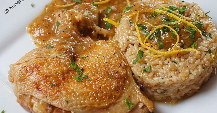 Lemon Chicken in the Pot, Λεμονάτο Κοτόπουλο στην Κατσαρόλα, Λεμονάτο Κοτόπουλο με Ριζότο, Συνταγές για Κοτόπουλο στην Κατσαρόλα