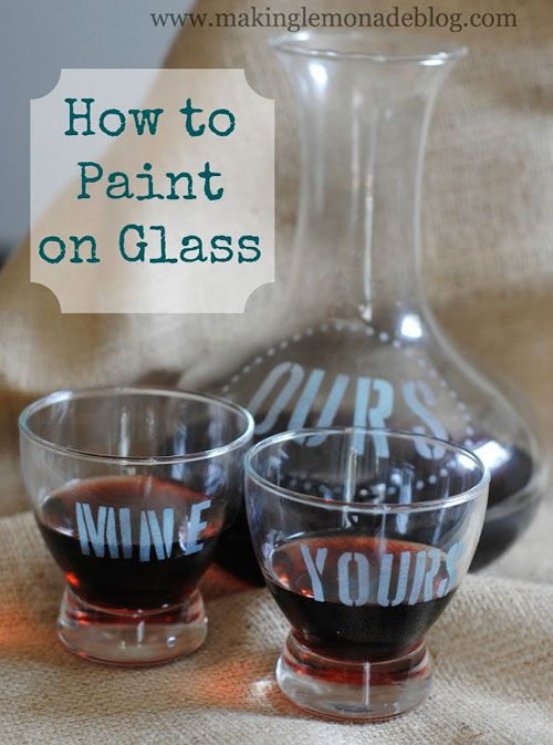 15 best images about painting on glass on pinterest for How to paint glass jars