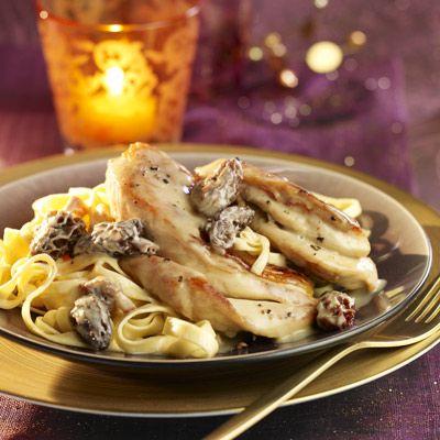 Découvrez la recette Fricassée de chapon aux morilles sur cuisineactuelle.fr.