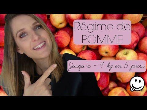 Regime de pomme    Jusqu'a -4 kg en 5 jours - YouTube