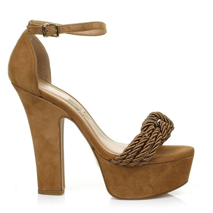 Meia Pata Cord Olv Camel -  UZA Shoes