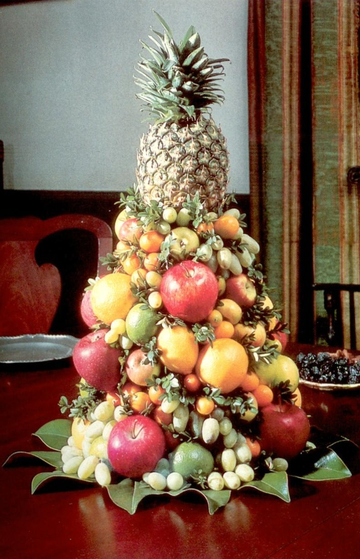 Fruit over the door christmas decoration - Williamsburg Mixed Fruit Cone Williamsburg Christmascolonial