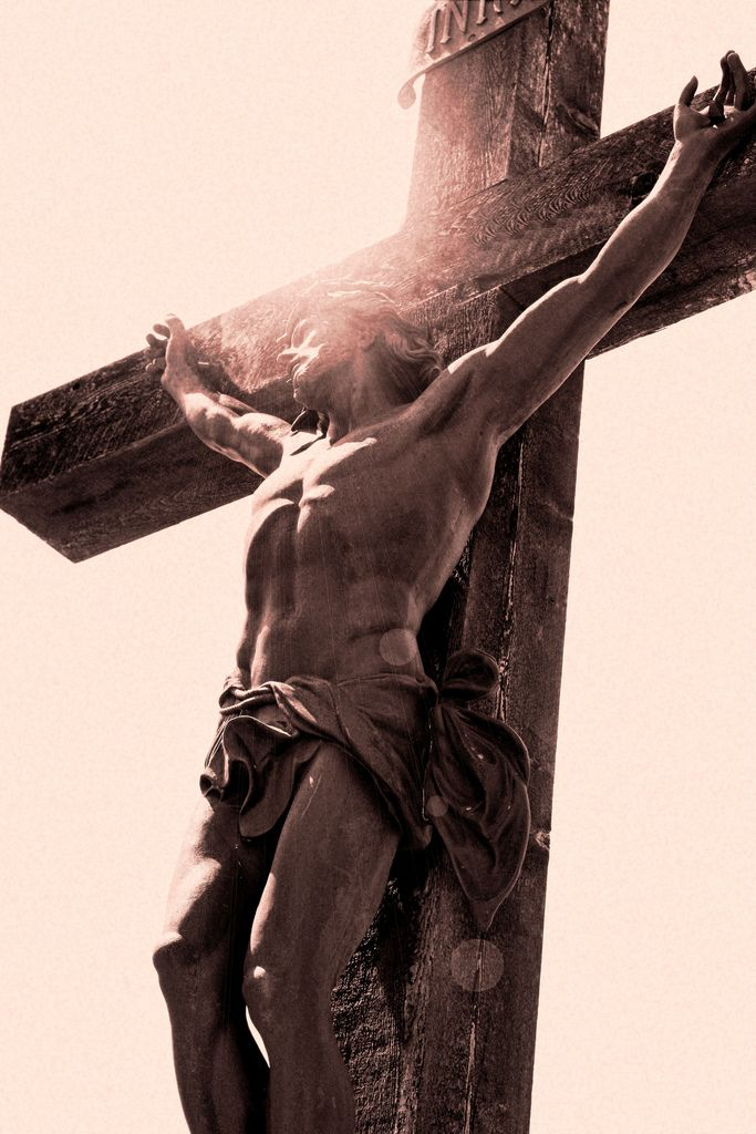 """""""God so loved the world that He gave His only begotten Son."""" The precious blood of Christ, a lamb without blemish or defect, redeemed humankind and gave perfect glory to God. By dying he destroyed our death and by rising he restored our life. """"Consequently, you too must think of yourselves as [being] dead to sin and living for God in Christ Jesus. Therefore, sin must not reign over your mortal bodies so that you obey their desires."""" [Romans 6:9-13]"""