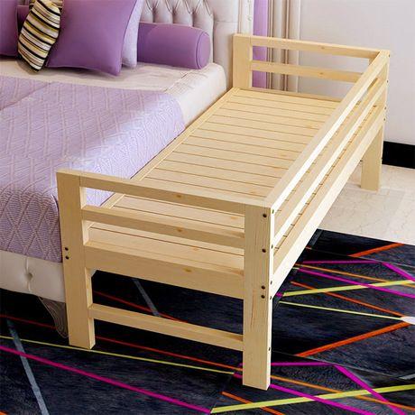 Lits d'enfants meubles d'enfants 180 * 40cm en bois massif lits d'enfants avec échelle lit entier  – Children Furniture