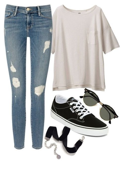 Back to school – appear lazily or be a fashionista? : cute back to – School outfits highschool casual jeans
