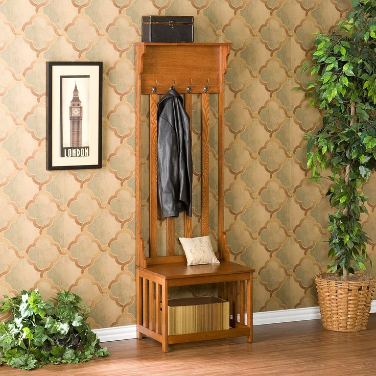 have to have it southern enterprises mission oak hall tree entry bench