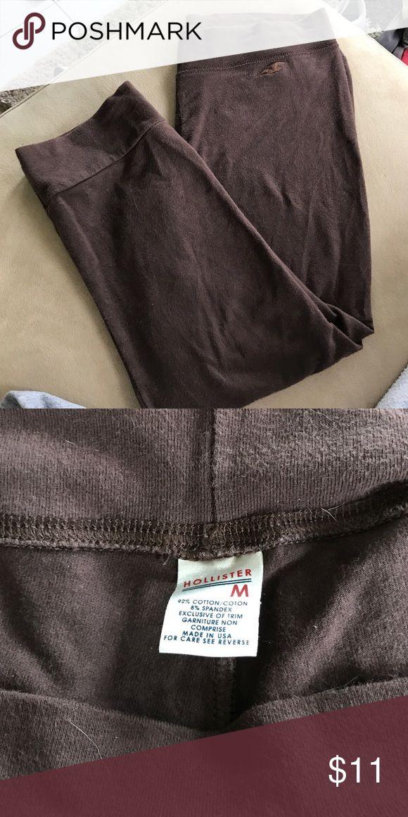 Brown Capri length hollister leggings Gently used smoke free home Hollister Pants Leggings