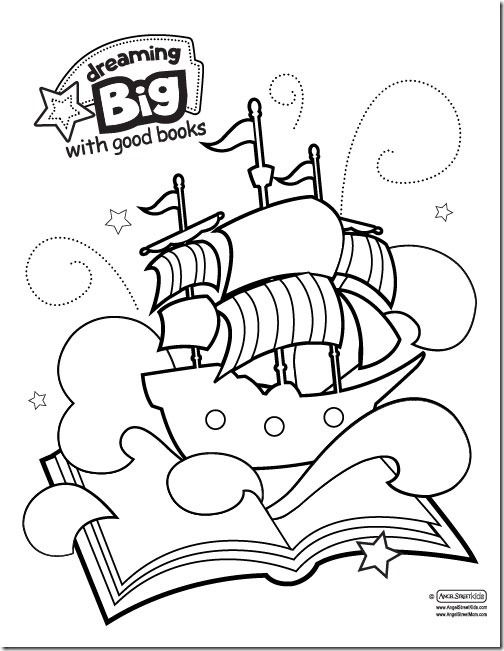 "Dream Big printables for the American Library Associations summer reading theme, ""Dream Big."""