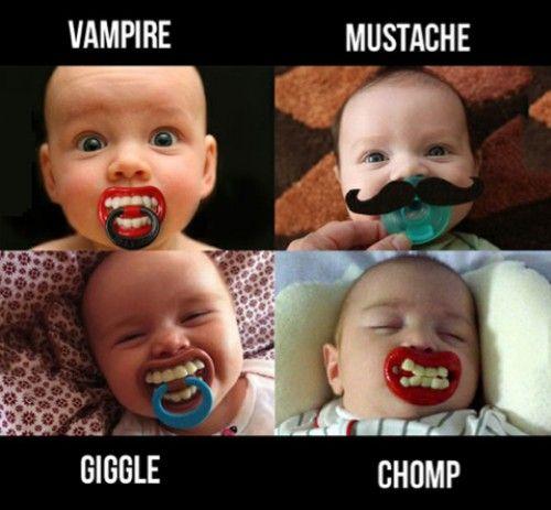 Ha ha!: Babies, Baby Baby, Baby Pacifiers, Future Kids, Funny Baby, So Funny, Mustache, Funny Babies, Baby Stuff
