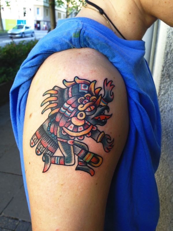 Wolf Tattoo Forearm, Tattoo Chart, Mexican Art Tattoos, Aztec Tattoo Designs, Neo Traditional Tattoo, Tattoos For Guys, Tattos, Mexico, Posters