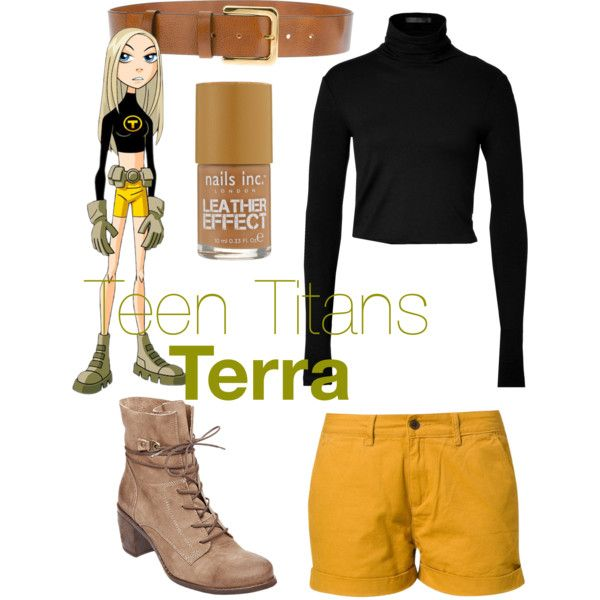 Teen Titans Terra Inspired Outfit by itsanerdthingxo, via Polyvore