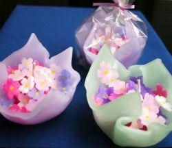 キャンドル:花包み