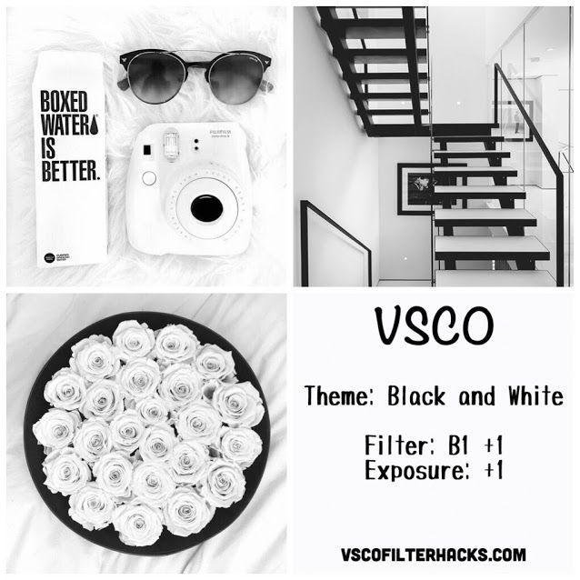 Black and White Instagram Feed Using VSCO Filter B1