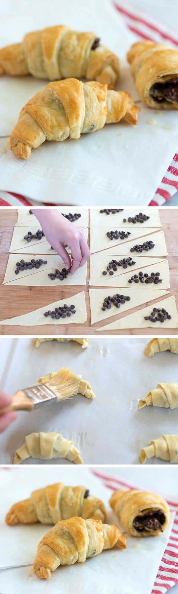 Mini Chocolate Croissants on inspiredtaste.net that only take 30 minutes to make!