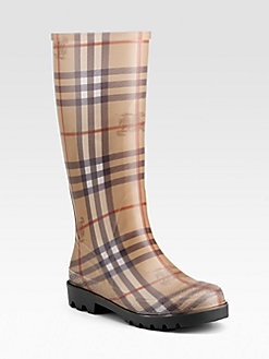 Burberry - Check Rain Boots - for bestie, cause she is no fair-weather friend :)