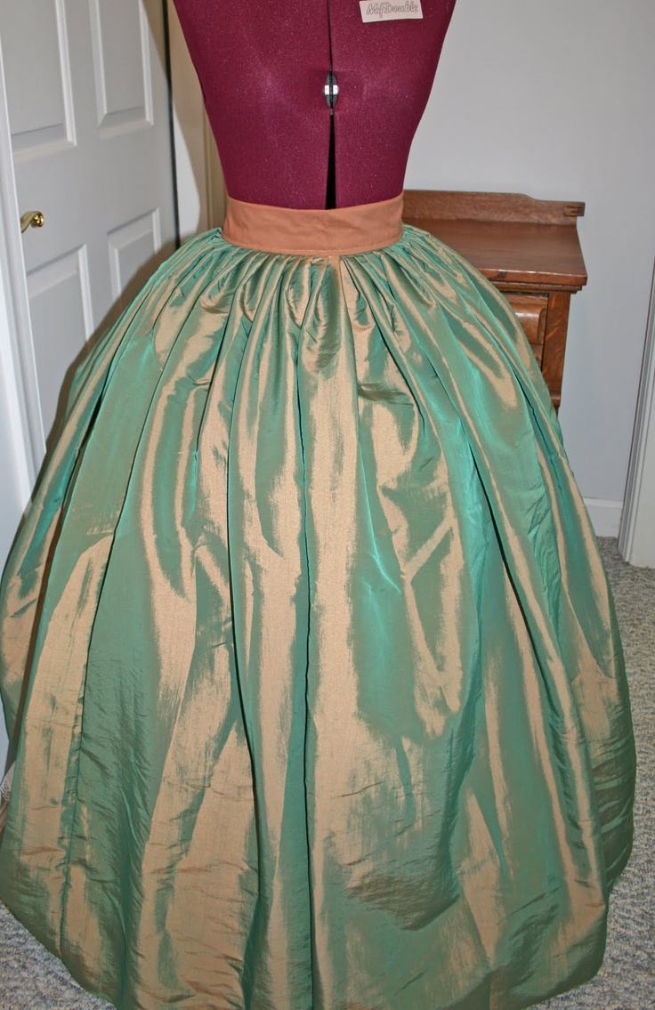 How to Pleat An 1860s Skirt - might come in handy for formal dresses...