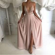 Image result for rose gold satin  loose  gown
