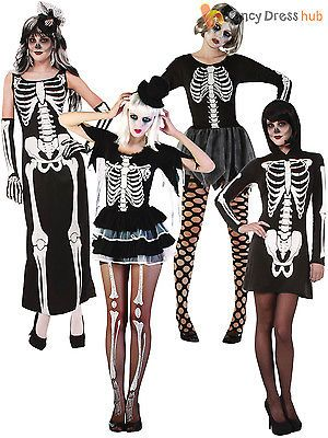 Ladies sexy #skeleton fancy dress #costume #womens halloween adult size 8 10 12 n,  View more on the LINK: http://www.zeppy.io/product/gb/2/181904664054/
