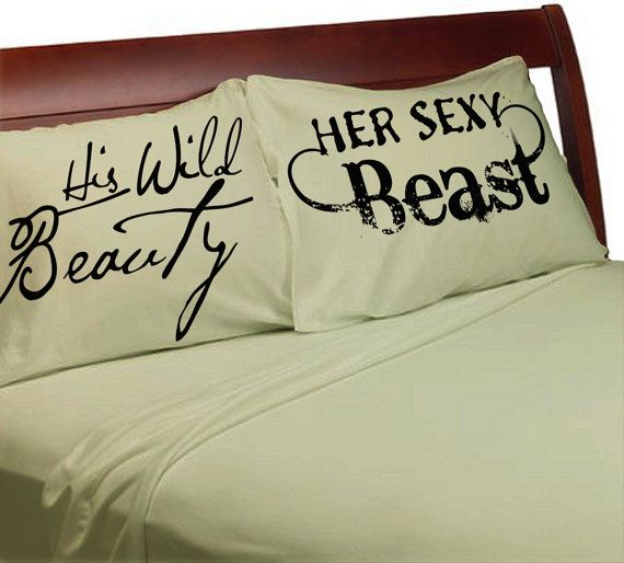 His Wild Beauty Her Sexy Beast Pillow Cases Couples Pillowcases Sexy For Him Her Boyfriend Girlfriend Husband Wife His Hers Beauty and Beast & 25+ unique Couple pillowcase ideas on Pinterest | Couples wedding ... pillowsntoast.com