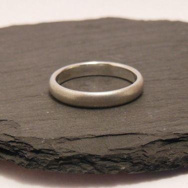 Trauring(3,5mm), Ehering (925 Silber) matt