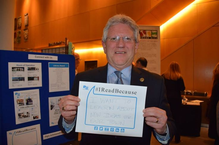 Mayor of the Town of Richmond Hill Dave Barrow tells us why he reads. #IReadBecause I want to learn about new ideas for our town.