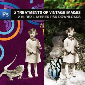 This Keep Designing site is rich with ideas for using vintage and vector images, and they offer free images, tutorials, and more. What a generous, creative group.