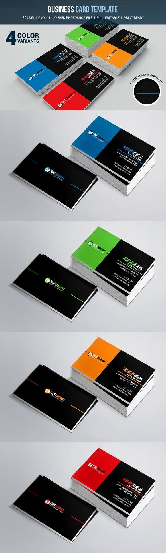 285 best Business Card Templates images on Pinterest | Plantillas ...