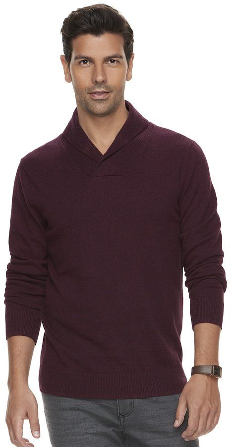 Marc Anthony Big & Tall Men's Slim-Fit Soft-Touch Shawl-Collar Sweater