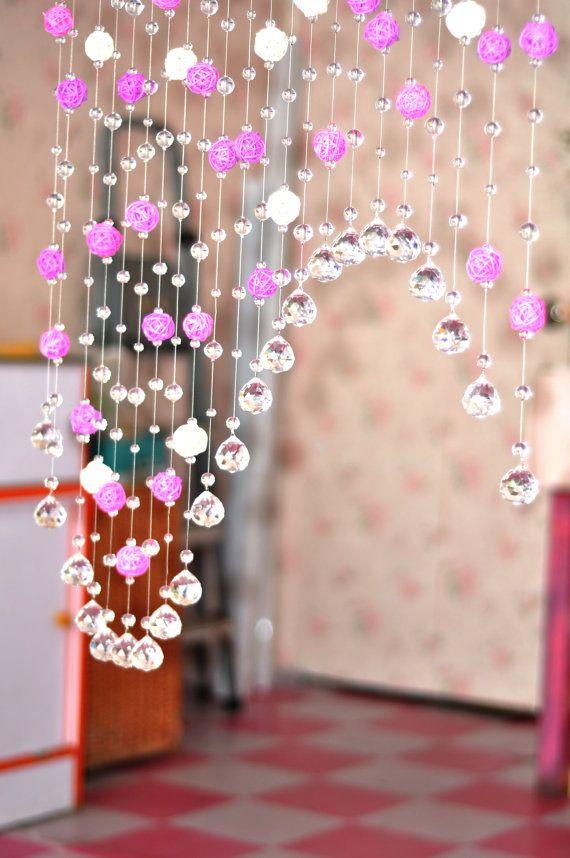 crystal bead curtain, glass beads curtain, home decoration, wedding decoration, wedding accessories J-058