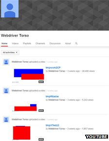 Webdriver Torso YouTube mystery clips' French connection