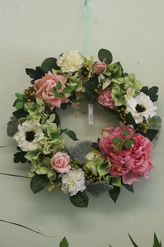 Silk flowers wreath