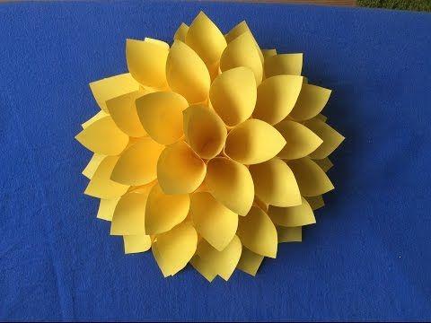 Гигантские цветы. Большие цветы. Как сделать цветы из бумаги. Оригами. - YouTube