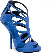 Scarpe Col Tacco Blu Elettrico