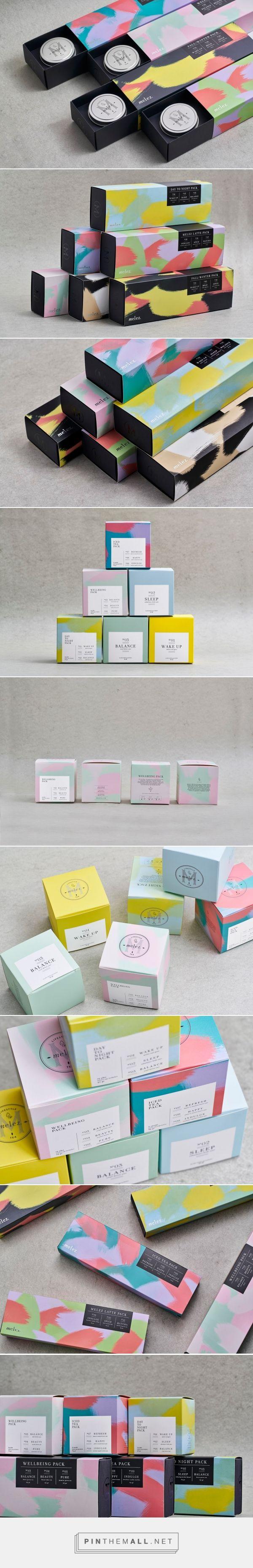 Melez Tea Gift Packs design by Atelier Nese Nogay - http://www.packagingoftheworld.com/2017/03/melez-tea-gift-packs.html