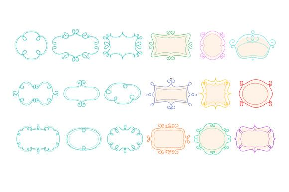 Outline Frames Mono Line Graphic by TopVectors on @creativemarket
