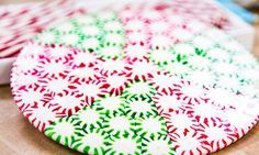 . @Home and Family  - Tips & Products - Jessie Jane's DIY Peppermint Plates | Hallmark Channel