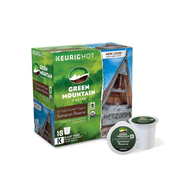 Keurig® K-Cup® Pod Green Mountain Coffee Sumatran Reserve Organic Dark Roast Coffee - 18-pk., Multicolor