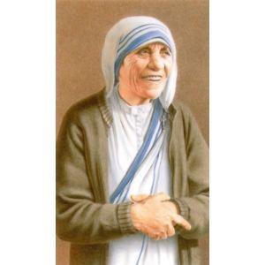 Teresa of Calcutta Laminated Prayer Card